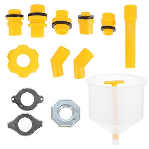 FAVOMOTO Kit de Embudo de Llenado de Refrigerante de Radiador a Prueba de Derrames Duradero sin Derrames Purgador de Radiador con Adaptadores para Vehículos Universales SUV Auto