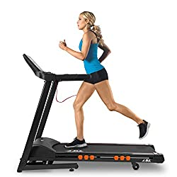 Speed ranges from 0.3 km/h to 18 km/h; Incline ranges from 0 to 20 levels, 16-point cushion deck absorption system; Foldable with built-in wheels 5-inch LCD monitor displays time, speed, distance, heart-rate and calories; 20 running programs, first 3...