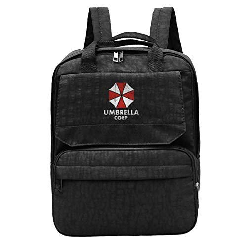 Mochila Portátil Umbrella Corp Resident Evil Laptop Travel Ligero Cumpleaños Durable Impreso Escuela De Viaje Acogedor Mujeres Mochila Escolar Mochila Estudiante Estudiante Bolso