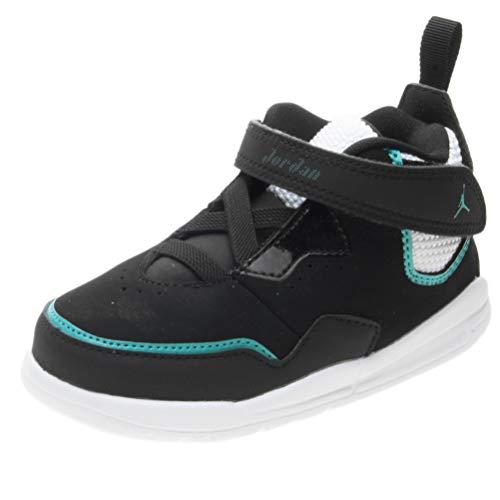 Nike Jordan Courtside 23 (TD), Zapatillas de Estar por casa Bebé Unisex, Multicolor (Black/Black/Turbo Green 003), 19.5 EU