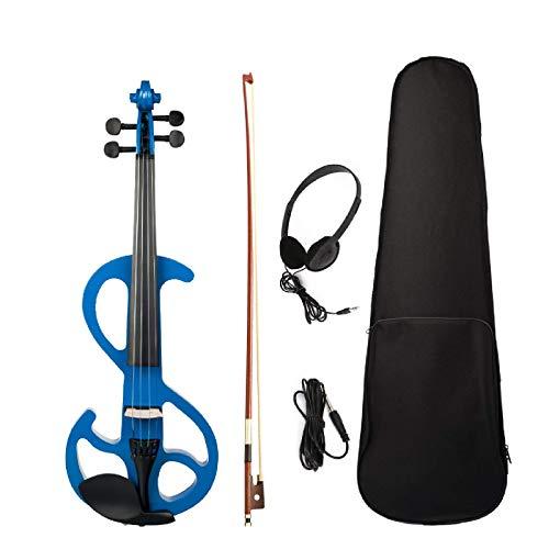 Violín de violín eléctrico 4/4 Violín violín cuerpo de arce diapasón clavijas...