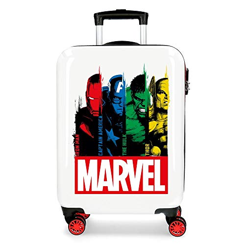 Marvel Los Vengadores Power Maleta de Cabina Multicolor 38x55x20 cms Rígida ABS Cierre combinación 34L 2,6Kgs 4 Ruedas Dobles Equipaje de Mano