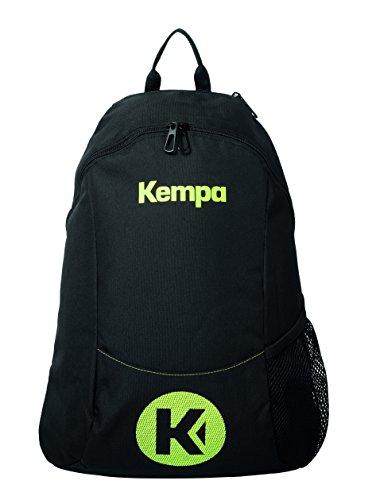 Kempa Unisex-Erwachsene Caution Rucksack, Schwarz (Negro/Amarillo Fluor), 24x36x45 centimeters (W x H x L)