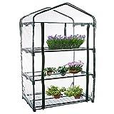Mini invernadero ensanchado para interiores y exteriores,cubierta de invernaderos de plantas pequeñas,cubierta de PVC transparente para casa verde portátil,casa cálida para jardín patio (sin estante)