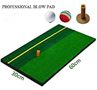 Anfang ショットマット ゴルフ 練習用 室内 ボール&ゴムティー付き 60×30cm (60×30)