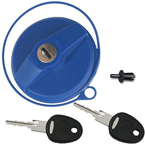 Tankdeckel Wassertankdeckel Wasser Trinkwasser Wohnwagen Wohnmobil blau mit Zylinder und Schlüssel