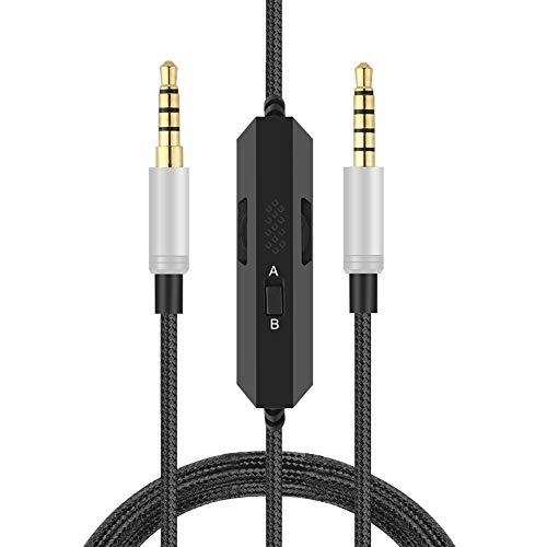 ALDOKE A40 Kabel, Audiokabel Kompatibel Mit Astro A10,A40 Gaming Kopfhörer,Ersatzkabel Kompatibel Mit Xbox One,Play Station 4 PS4 (Inline-Stummschaltung und Mikrofonlautstärkeregler)2M