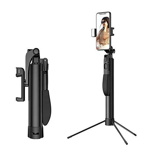 Selfie-Stick Bluetooth statief, 360 ° afneembare draadloze afstandsbediening, Adjust selfie-stick video vergelijken LED-licht, geschikt voor iPhone Samsung Huawei
