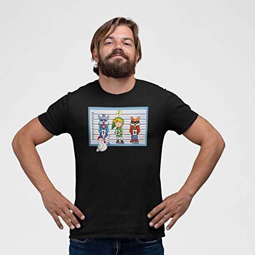 Okiwoki T-Shirt Noir Zelda parodique Link et Une Cocotte : Un Coupable inattendu. (Parodie Zelda)