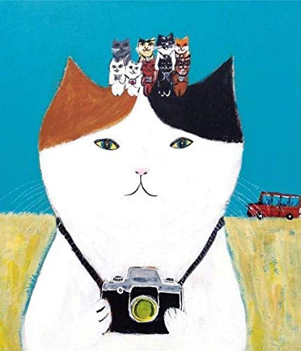 Ivansung Paint by Number Kits canvas DIY olieverfschilderij voor kinderen, studenten, volwassenen beginners met penselen en acrylpigment geschilderde kat, de camera heeft 40 x 50 cm / 15.80 x 19.70 inch