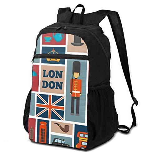 Women Travel Daypack Cute London Guard Cartoon Hiking Backpack Lightweight Daypack Mens Hiking Bag Lightweight Waterproof for Men & Womentravel Camping Outdoor