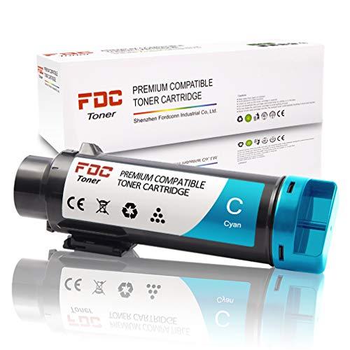 FDC 106R03477 Cartuchos de tóner compatibles para impresoras Xerox Phaser 6510 6510DN 6510N WorkCentre 6515 6515DN 6515DNI 6515DNW 6515N 6515NW (Cian)