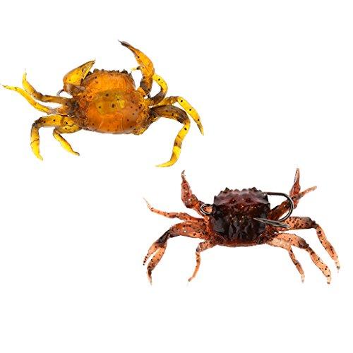 Sharplace Vissen Krabbe Lure Simulatie Krabbe Visaas Jodium, zout & krabben geur
