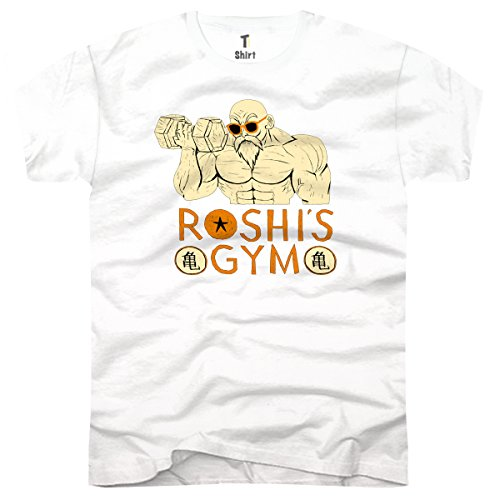TEE-Shirt, Homme T-Shirt Roshi's Gym Taille L,Blanc