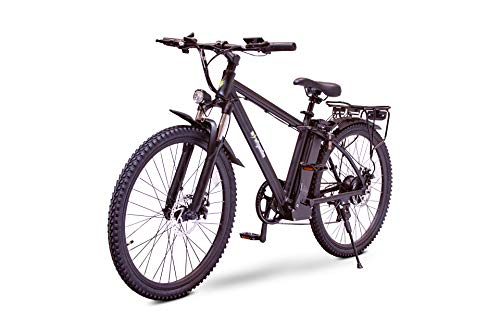 Fit Right Electric Bike Rugged Electric Mountain Bike 350W 36V Ebike 26'' Electric Bicycle, 20MPH Adults Ebike W/ 10.4Ah Battery, Up to 30 Miles/Charge, Professional 35 Speed Shimano Gears (Black, 26)
