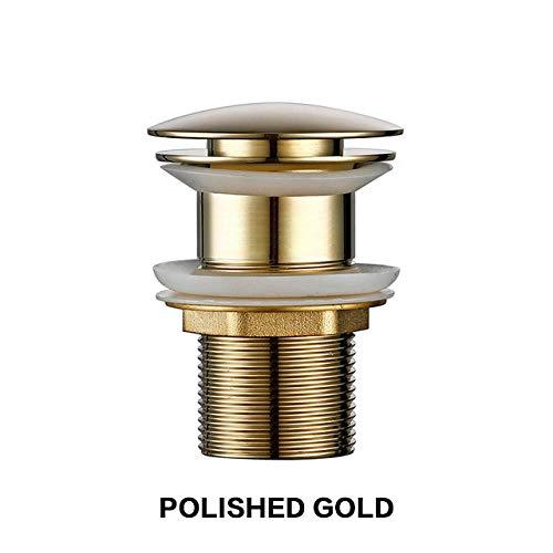 Mat zwart goud badkamer wastafel wastafel RVS afvoer met overloop keuken bad afvoer stop geen gat gepolijst goud
