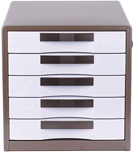 Armario de almacenamiento, armario de almacenamiento de archivos Armario de archivos vertical A4 Gabinete de almacenamiento independiente de gran capacidad de 5 capas con cerradura Caja de almacenami