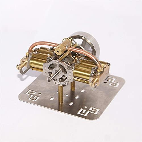 FHISD Modelo de Motor de Vapor 90 x 90 x 45 mm Mini Modelo de Motor de Vapor Creativo sin Caldera para Modelo de Barco (Color: Dorado, Tamaño: Talla única)