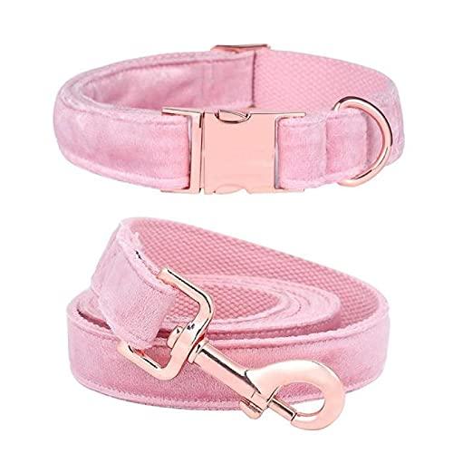 Aiong Collar para Mascotas, Patas de Estilo único Lindo Perrito Rosa Personalizado Azul navideño
