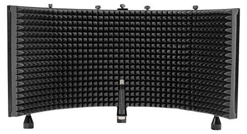 Rockville ROCKSHIELD 3 Large Studio Mic Isolation Shield w/Sound Dampening Foam