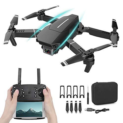 Drone, Drone Plegable portátil Plegable con Control Remoto Drone, Quadcopter 4K Altitude Hold para Control Remoto