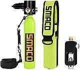 SMACO Tauchausrüstung - 1L Mini Tauchflasche Sauerstoffflasche Tauchen Hochdruckluftpumpe...