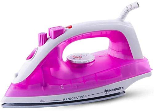 Stoomstrijkijzer Snelle verwarmingsstoomijzers Huishoudelijke hand nat en droog Huishoudelijke strijkijzers Draagbaar voor thuiskeuken Roze