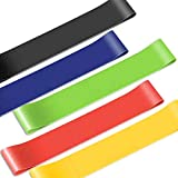 Vanbatey Essential Power Bands, Set de bandas de resistencia, látex natural para entrenamiento, yoga, Weightlifting, Physical Therapy, Rehab, Bench Press, Dead Lift, Improve Mobility and Strength