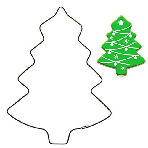 heacker Árbol de Navidad Forma de la Torta de la Galleta de la Galleta Molde de Acero Inoxidable Cortador de la Fruta