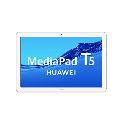 Huawei Media Pad T5 - Tablet 10.1' Full HD (WiFi, RAM de 3 GB, ROM de 32 GB, Android 8.0, EMUI 8.0) Color Azul Claro