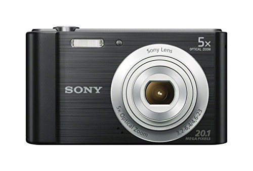 Sony DSCW800/B 20.1 MP Digital Camera (Black) (Renewed)