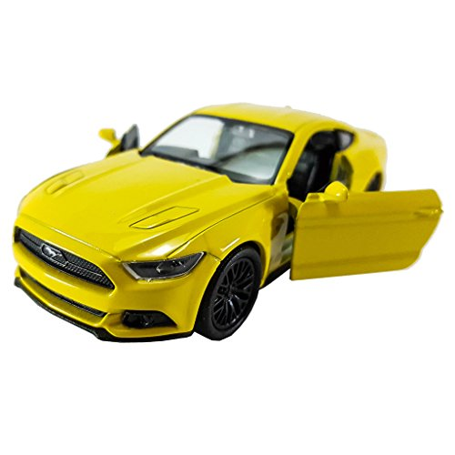 Welly 1:34-1:39 Die-cast 2015 Ford Mustang GT Car Yellow Color Model Collection