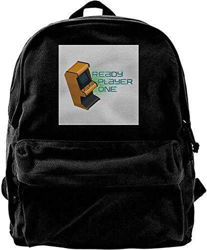 Yuanmeiju Zaino in tela Retro Arcade Ready Player One Logo Zaino Palestra Escursionismo Laptop Borsa a tracolla Daypack per uomo Donna