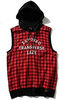 Tシャツ メンズ トップス ダンス 衣装 ストリート 卸 ビッグ 原宿系 春夏 レディース ユニセックス HIPHOP ノースリーブ チェック TOKYO9