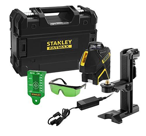 Stanley FMHT77617-1 Mehrzeitenwaage SLG-2V (Li-Ion) Laser grün Fatmax – Reichweite 30 m / 50 m mit einem Sensor – Schutzart IP54