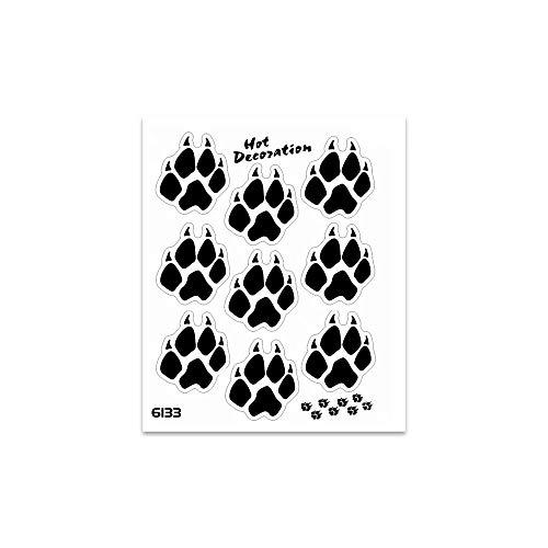 4R Quattroerre.it 6133 Adhesivos Stickers Patas de Lobo, Negro, 10 x 12 cm