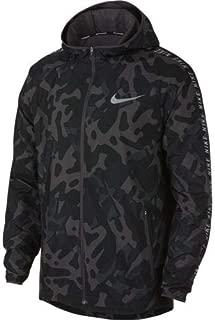 Nike Men's Essential Running Jacket Black/Gunsmoke/Reflective SILV L