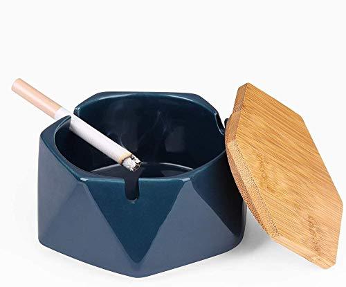 Cenicero de escritorio para decoración de oficina en casa - Azul oscuro