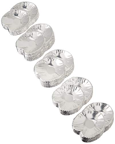 Set of 250 Disposable Clam Shells | Aluminum Foil Food Shell Pans for Making Tasty Appetizers Like Clams Casino, Oysters, Crab Cakes, Dips, and More | Premium Small Clam-Shell Baking Dishes,