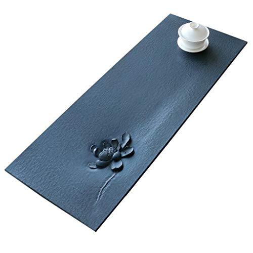 Best Deals! Tea Tray Kung Fu Tea Tray Simple Hand-carved Tea Tray Natural Ebony Tea Tray Home Stone ...