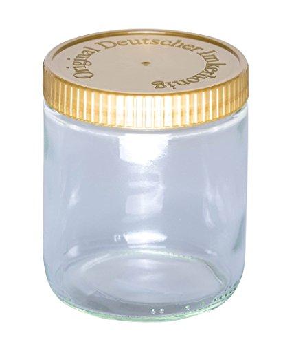 BIENEN SCHMIDT 60 x Neutrales Schraubglas 500g Imkerhonig Honnigglas mit goldenem Deckel ohne Etikett Honig Neutralglas (Deckel mit Prägung