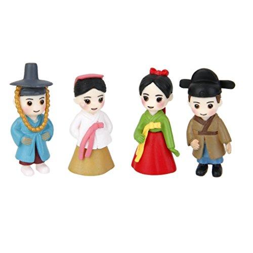 MagiDeal 2 Pairs Miniature Dollhouse Bonsai Craft Fairy Garden Glass Vase Korean Lovers Decor