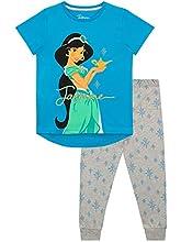 Disney Pijamas de Manga Corta para niñas Aladdin Azul 3 - 4 Años