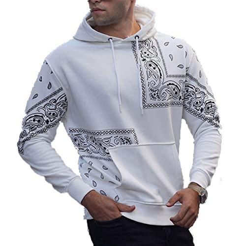 XDJSD Suéter para Hombre Camiseta De Manga Larga para Hombre Sudadera con Capucha Impresión Tendencia Casual Chaqueta De Suéter con Capucha Suelta Top Casual para Hombre