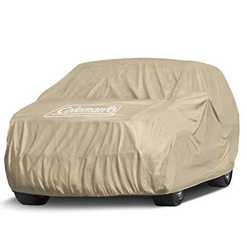 """Coleman Premium Executive SUV Cover -Indoor-Outdoor Cover Waterproof/Dustproof/Scratch Resistant/UV Protection for Vehicles up to 225"""" Inches"""