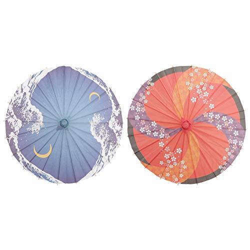 VALICLUD 2 Piezas Paraguas de Papel Al Óleo a Prueba de Lluvia Pequeño Paraguas de Papel Engrasado Chino Parasol Vintage Japonés Decorativo Paraguas Colgante para La Decoración de La