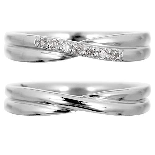 [ココカル]cococaru ペアリング 2本セット プラチナ Pt900 マリッジリング 結婚指輪 ダイヤモンド 日本製 】(レディースサイズ3号 メンズサイズ13号)