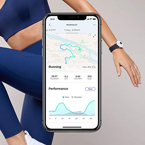 Withings Steel HR Hybrid Smartwatch - Activity Tracker with Connected GPS, Heart Rate Monitor, Sleep Monitor, Smart Notifications, Water Resistant with 25-day battery life