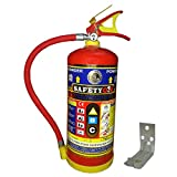 Safety one Metal ABC Type fire Extinguisher (4 Kg, Red)