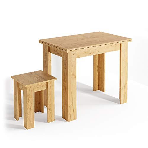 Vicco Details Eckbankgruppe Roman Esszimmergruppe Sitzgruppe Küchensitzgruppe Bank Tisch Hocker (Sandeiche, Tisch + Hocker)